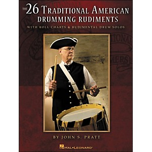 Hal-Leonard-26-Traditional-American-Drumming-Rudiments---With-Roll-Charts---Rudimental-Drum-Solos-Standard