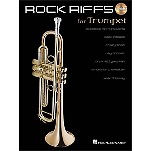Hal-Leonard-Rock-Riffs-For-Trumpet-Book-CD-Standard