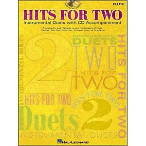 Hal-Leonard-Hits-For-Two--Instrumental-Duets--For-Flute-Book-CD-Pkg-Standard