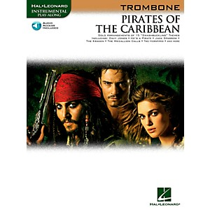 Hal-Leonard-Pirates-Of-The-Caribbean-For-Trombone-Instrumental-Play--Along-Book-CD-Standard