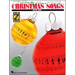Hal-Leonard-25-Top-Christmas-Songs-For-Alto-Saxophone-Book-CD-Standard