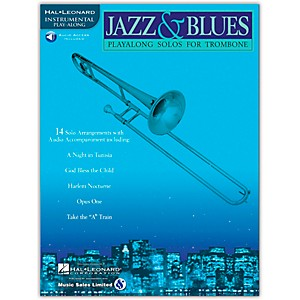 Hal-Leonard-Jazz-And-Blues-Playalong-Solos-For-Trombone-Book-CD-Standard