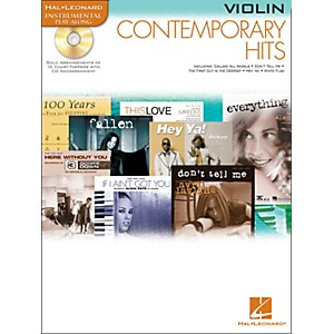 Hal-Leonard-Contemporary-Hits-For-Violin-Book-CD-Instrumental-Play-Along-Standard