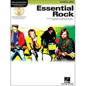 Hal-Leonard-Essential-Rock-For-Violin-Book-CD-Instrumental-Play-Along-Standard