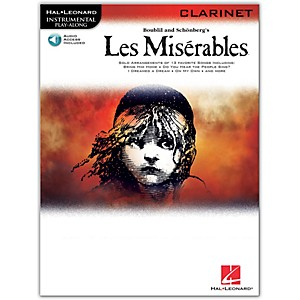 Hal-Leonard-Les-Miserables-For-Clarinet--Instrumental-Play-Along-Book-CD-Standard