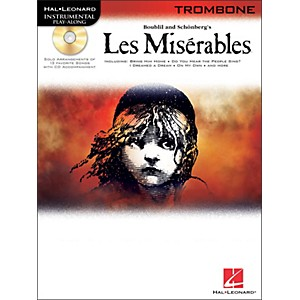Hal-Leonard-Les-Miserables-For-Trombone---Instrumental-Play-Along-Book-CD-Standard