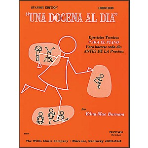 Willis-Music-Dozen-A-Day-Book-Two-For-Piano--Spanish-Edition--Una-Docena-Al-Dia-Standard