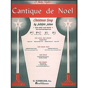 G--Schirmer-Cantique-De-Noel--O-Holy-Night--In-D-Flat-For-Medium-High-Voice-By-Adam---Deis-Standard