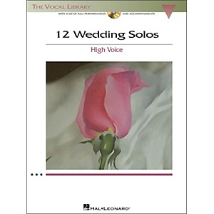 Hal-Leonard-12-Wedding-Solos-For-High-Voice--The-Vocal-Library--Book-CD-Standard
