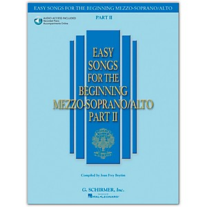 G--Schirmer-Easy-Songs-For-The-Beginning-Mezzo-Soprano---Alto-Part-II-Book-CD-Standard