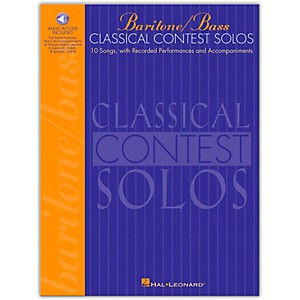 Hal-Leonard-Classical-Contest-Solos-For-Baritone---Bass-Book-CD-Standard
