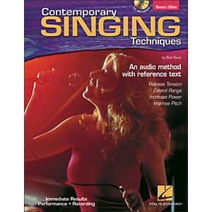 Hal-Leonard-Contemporary-Singing-Techniques---Women-s-Edition-Book-CD-Standard