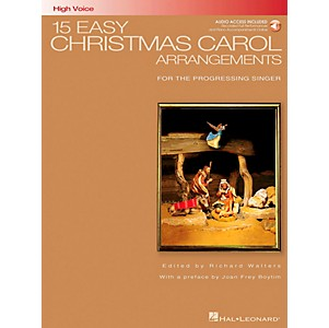 Hal-Leonard-15-Easy-Christmas-Carol-Arrangements-For-High-Voice-Book-CD-Standard