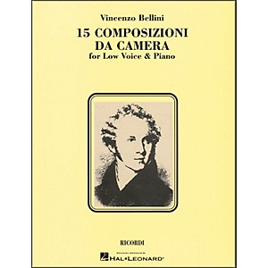 Hal-Leonard-Bellini---15-Composizioni-Da-Camera-For-Low-Voice---Piano-Standard