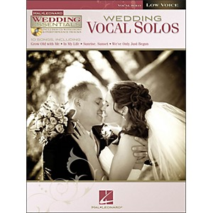 Hal-Leonard-Wedding-Vocal-Solos---Wedding-Essentials-Series-For-Low-Voice-Book-CD-Standard