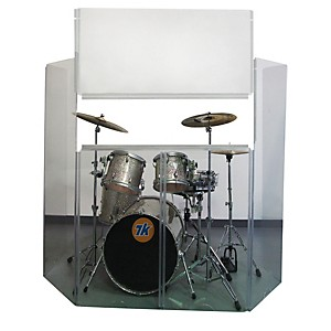Musician-s-Gear-Acrylic-Drum-Shield-with-Removable-Front-Panel-6-Piece
