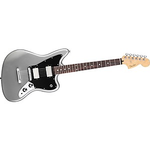 Fender-Blacktop-Jaguar-HH-Electric-Guitar-Silver-Rosewood