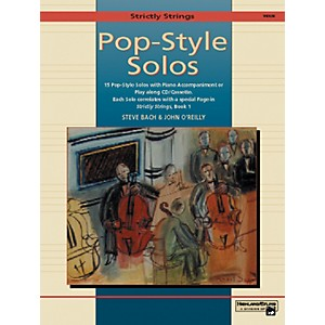 Alfred-Strictly-Strings-Pop-Style-Solos-Violin-Book-Only-Standard