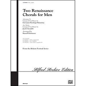 Alfred-Two-Renaissance-Chorals--Adoramus-Te---Ave-Maria--TBB-Choral-Octavo-Standard