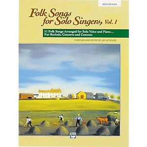 Alfred-Folk-Songs-for-Solo-Singers-Vol--1-Book--Medium-High--Standard
