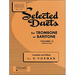 Hal-Leonard-Rubank-Selected-Duets-For-Trombone-Or-Baritone-Vol-2-Standard