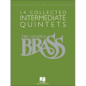 Hal-Leonard-The-Canadian-Brass--14-Collected-Intermediate-Quintets-Songbook---Tuba-Standard