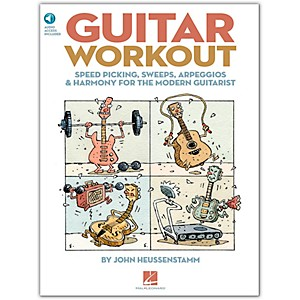 Hal-Leonard-Guitar-Workout---Speed-Picking-Sweeps-Arpeggios---Harmony-For-The-Modern-Guitarist-BK-CD-Standard