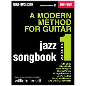 Berklee-Press-Modern-Method-For-Guitar-Songbook--Jazz--Book-CD--Standard