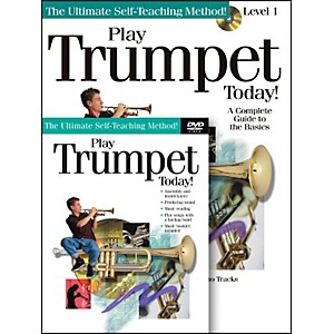 Hal-Leonard-Play-Trumpet-Today--Beginner-s-Pack---Includes-Book-CD-DVD-Standard