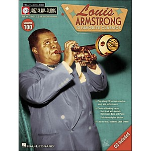 Hal-Leonard-Louis-Armstrong-Jazz-Play--Along-Volume-100-Book-CD-Standard