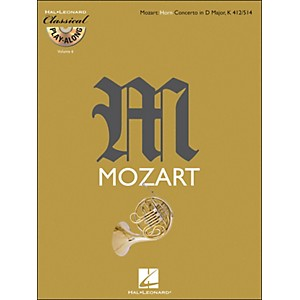 Hal-Leonard-Mozart--Horn-Concerto-In-D-Major--Kv-412-514-Classical-Play-Along-Book-CD-Vol-6-Standard