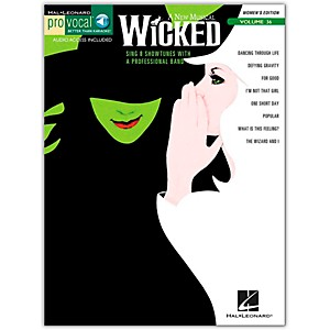 Hal-Leonard-Wicked---Pro-Vocal-Songbook---CD-For-Female-Singers-Volume-36-Standard