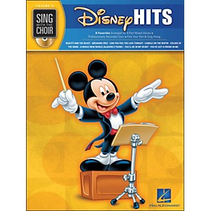 Hal-Leonard-Disney-Hits---Sing-With-The-Choir-Series-Vol---8-Book-CD-Standard