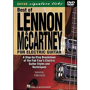 Hal-Leonard-Best-Of-Lennon---McCartney-For-Electric-Guitar-Signature-Licks-DVD-Standard
