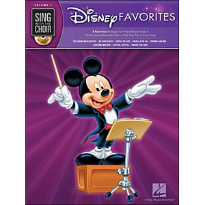 Hal-Leonard-Disney-Favorites---Sing-With-The-Choir-Series-Vol--7-Book-CD-Standard