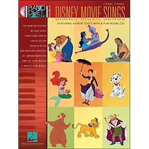 Hal-Leonard-Disney-Movie-Songs-Volume-12-Book-CD-1-Piano-4-Hands-Piano-Duet-Play-Along-Standard