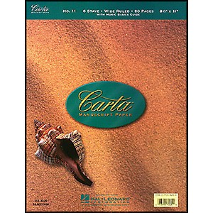 Hal-Leonard-Carta-Manuscript-11-Writing-Pad-8-5-X-11--80-Pages--6-Staves-Standard