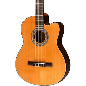 Lucero-LC200SCE-Rosewood-Cedar-Acoustic-Electric-Cutaway-Classical-Guitar-Natural