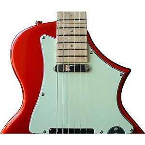 Voyage-Air-Guitar-TransAxe-Telair-VET-2-Electric-Guitar-with-Maple-Fingerboard-Candy-Apple-Red