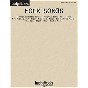 Hal-Leonard-Folk-Songs-Budget-Book-arranged-for-piano--vocal--and-guitar--P-V-G--Standard