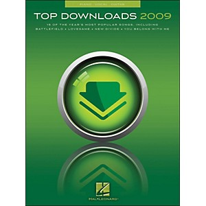 Hal-Leonard-Top-Downloads-2009-arranged-for-piano--vocal--and-guitar--P-V-G--Standard