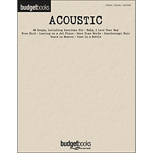 Hal-Leonard-Acoustic---Budget-Book-arranged-for-piano--vocal--and-guitar--P-V-G--Standard