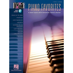 Hal-Leonard-Piano-Favorites-Volume-1-Book-CD-1-Piano-4-Hands-Standard
