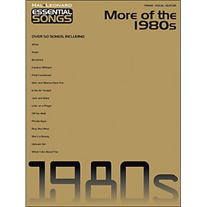 Hal-Leonard-More-Of-The-1980s---Essential-Songs-arranged-for-piano--vocal--and-guitar--P-V-G--Standard