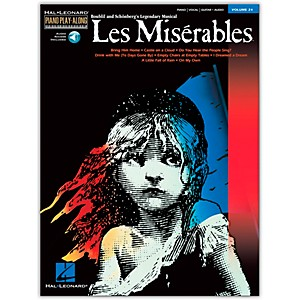 Hal-Leonard-Les-Miserables-Volume-24-Book-CD-Piano-Play-Along-arranged-for-piano--vocal--and-guitar--P-V-G--Standard