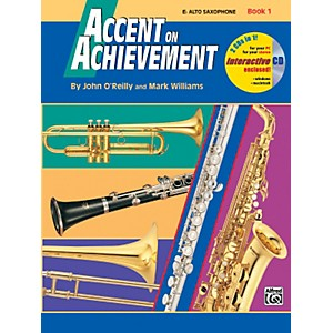 Alfred-Accent-on-Achievement-Book-1-Alto-Sax-Book---CD-Standard