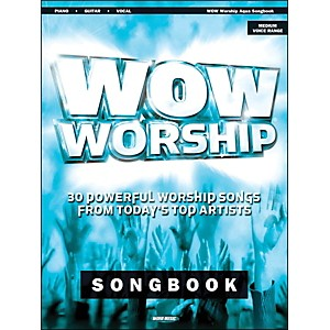 Word-Music-Wow-Worship--Aqua--arranged-for-piano--vocal--and-guitar--P-V-G--Standard