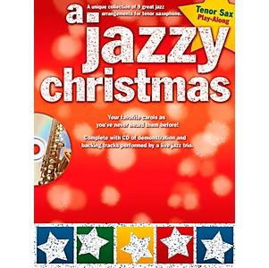 Hal-Leonard-A-Jazzy-Christmas---Tenor-Sax-Play-Along-Book-CD-Standard