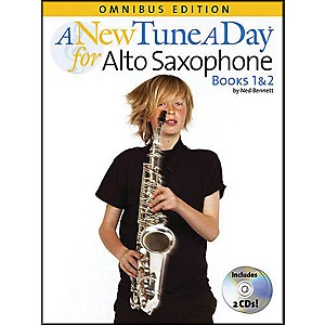 Music-Sales-A-New-Tune-A-Day-Alto-Sax-Omnibus-Book---2-CD-S-Standard