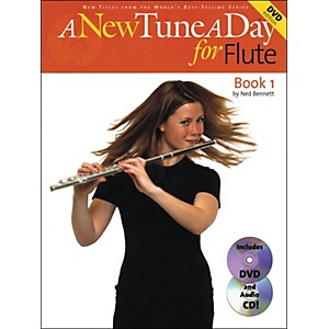 Music-Sales-A-New-Tune-A-Day-For-Flute-Book-1-With-Audio-CD-And-DVD-Standard